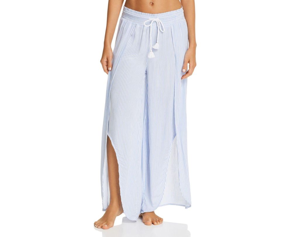 a729be4128b1 Lyst - Pj Salvage Salty Days Cutaway Pajama Pants in White
