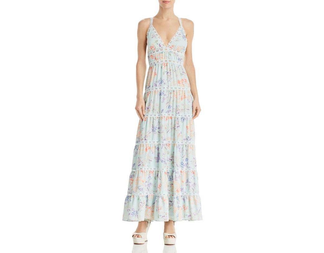 0932c3d63a0d Alice + Olivia. Women's Blue Alice + Olivia Karolina Tiered Floral Maxi  Dress