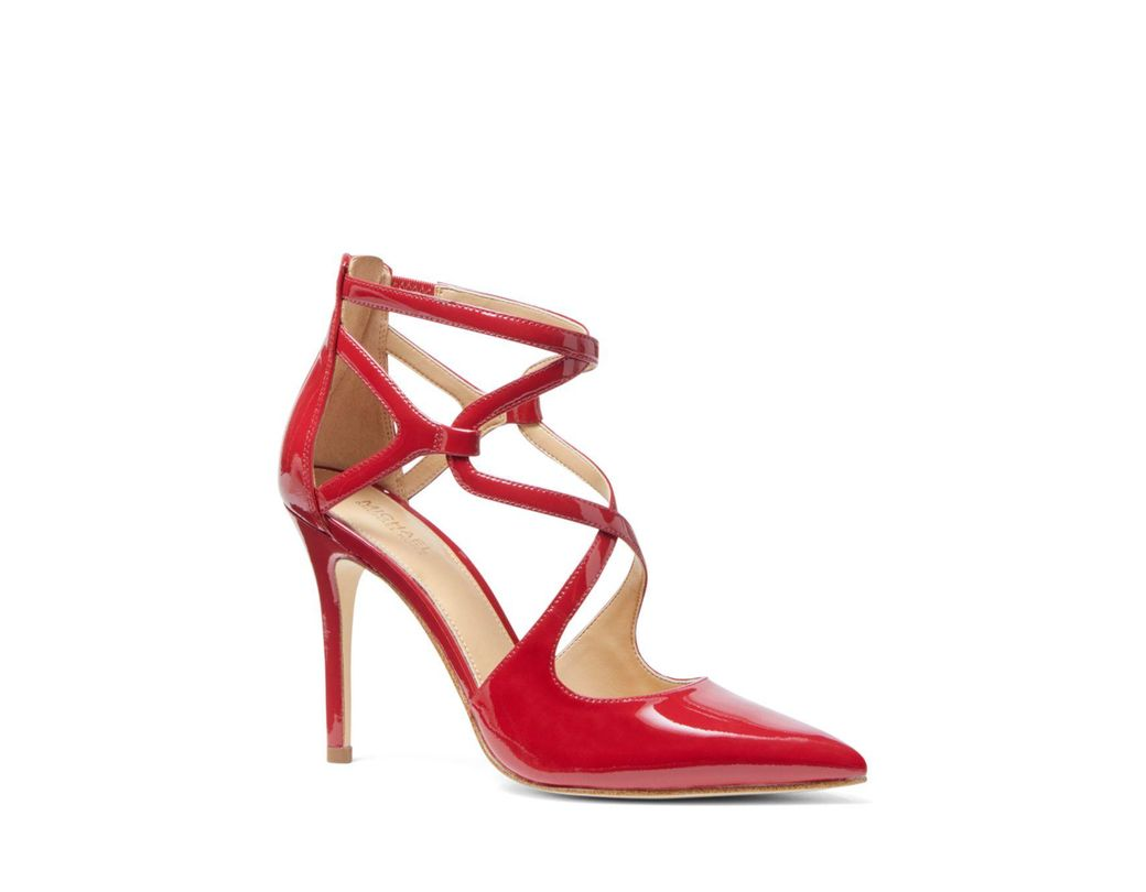 2a346cad05a7 Lyst - MICHAEL Michael Kors Women s Catia Closed Toe Strappy Pumps ...