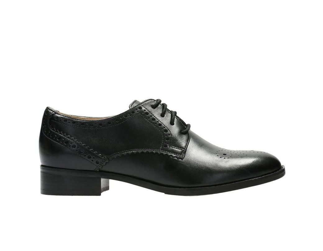 41f78cdbb3b9 Clarks Netley Rose Womens Brogues in Black - Lyst