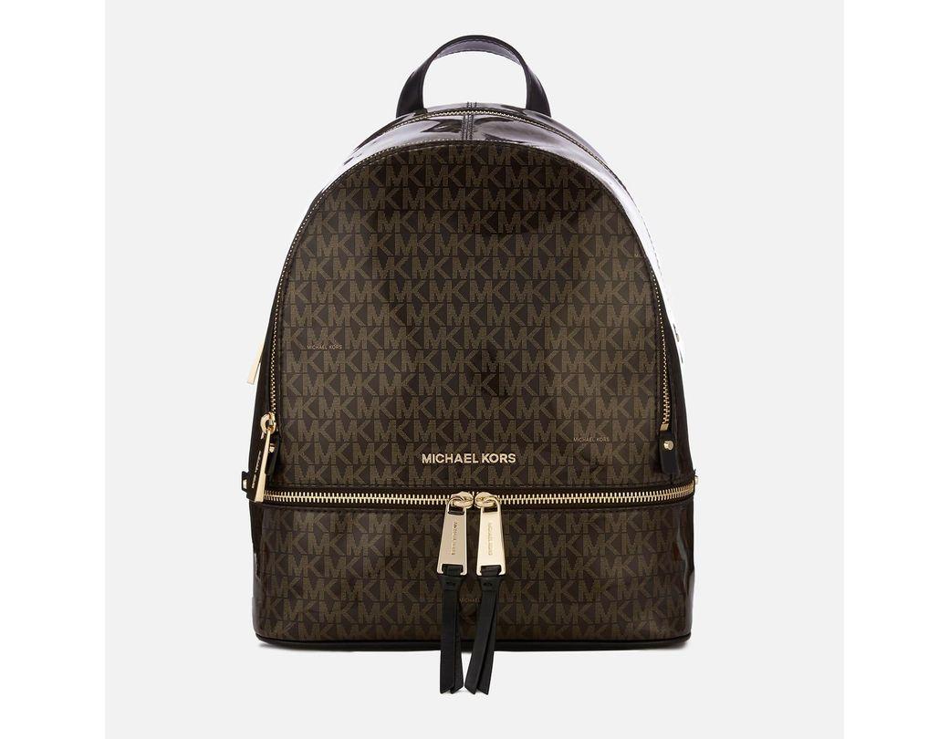 c8392ac6d161 MICHAEL Michael Kors Rhea Zip Backpack in Brown - Save 69% - Lyst