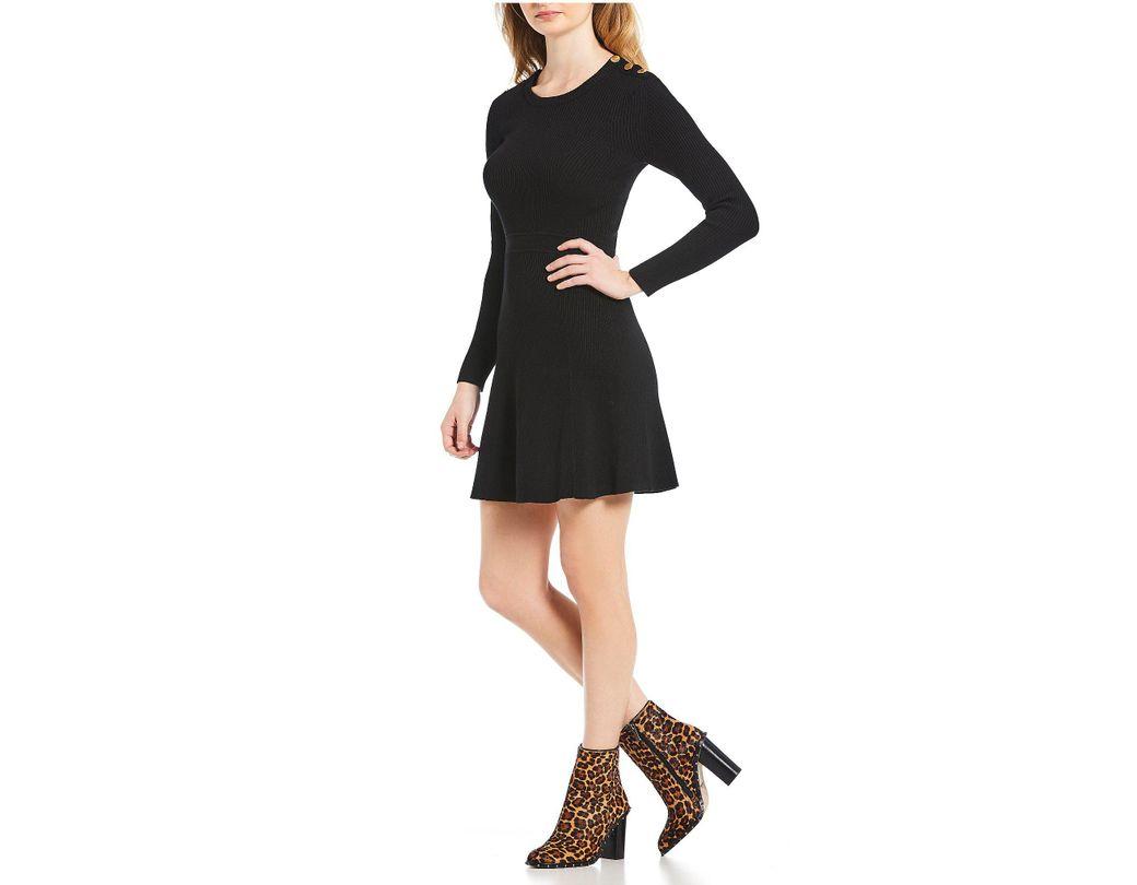 e895987a515 Lyst - Gianni Bini Hazel A-line Sweater Dress in Black