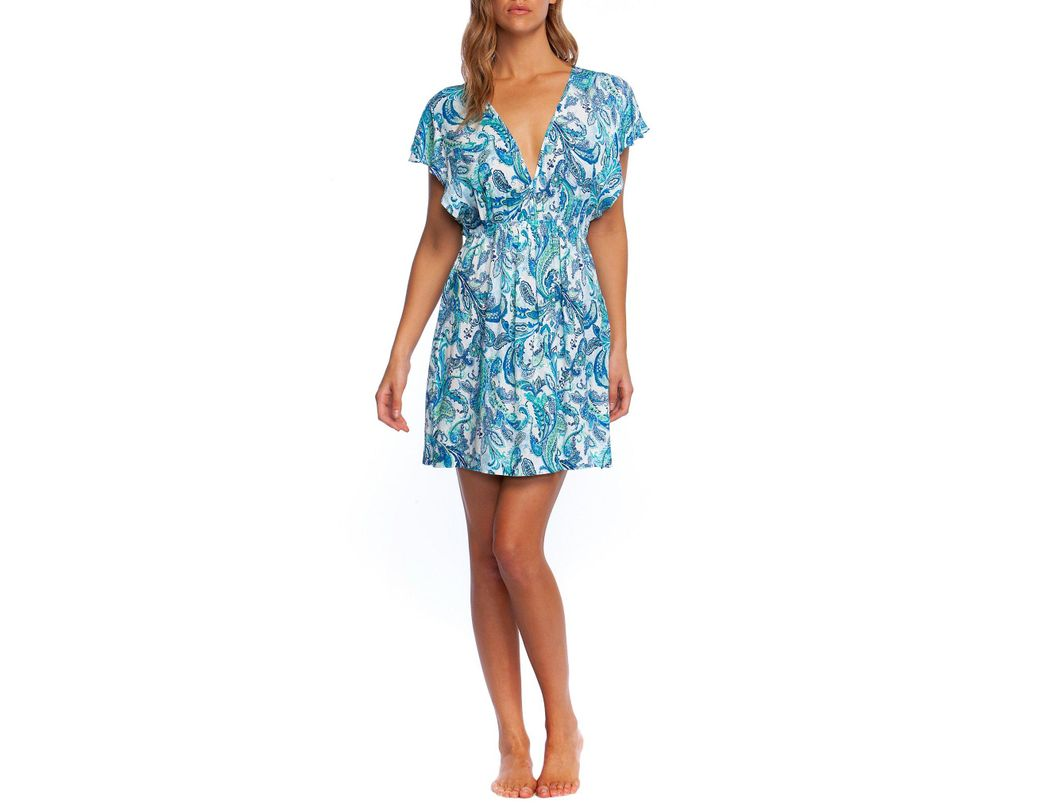 eb46fc4f510b3 Long-Touch to Zoom. Long-Touch to Zoom. 1; 2. Lauren by Ralph Lauren - Blue  Fiesta Paisley Printed Tunic Cover Up ...