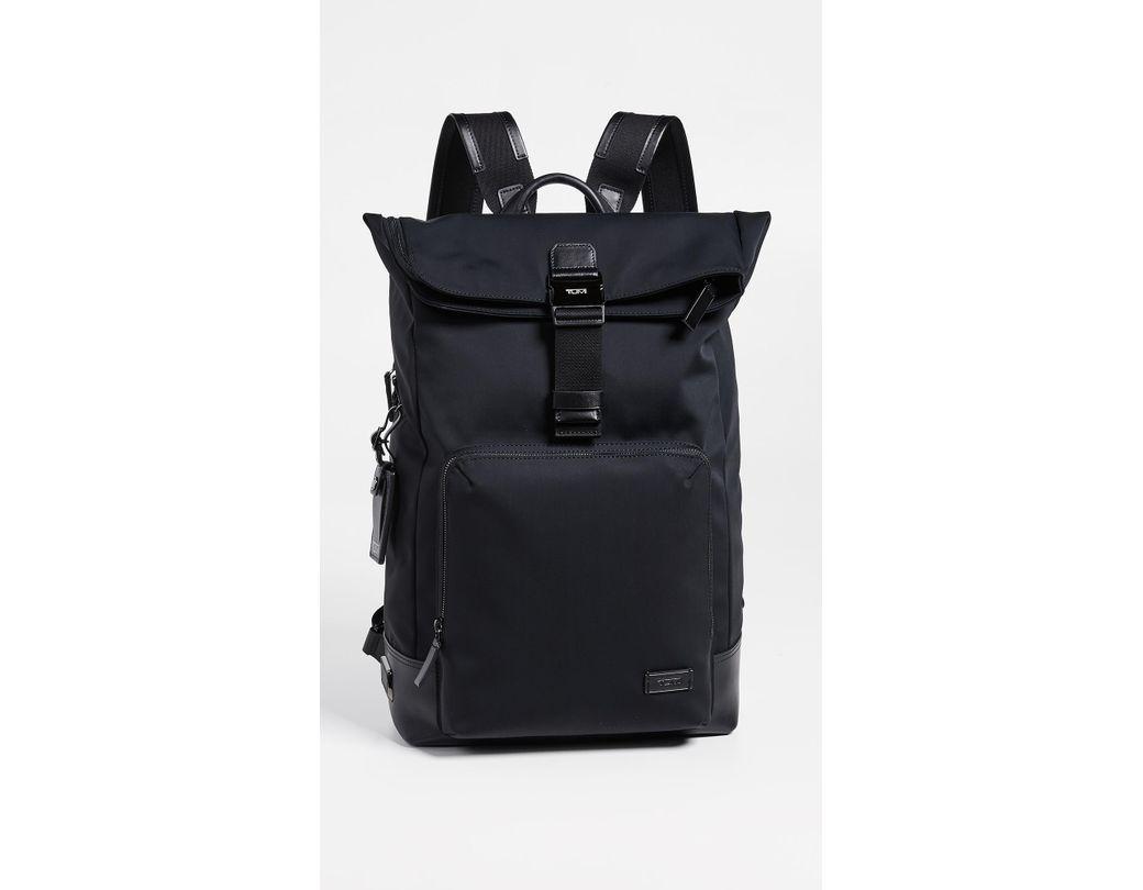 747f03cf5728 Tumi Harrison Oak Roll Top Backpack in Black for Men - Lyst