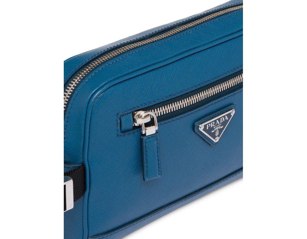 c7dedcc03c7d Lyst - Prada Saffiano Leather Belt Bag in Blue for Men