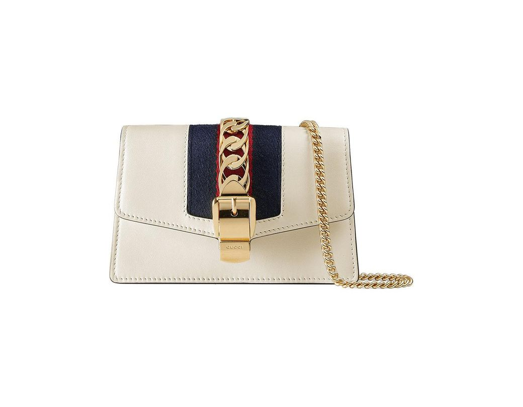 2e75c403b2a Lyst - Gucci Sylvie Leather Super Mini Bag in White