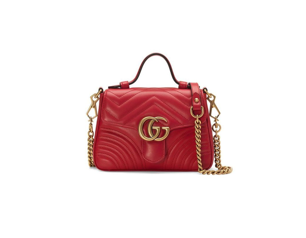 7c012f62bec Gucci Marmont 2.0 Leather Top Handle Bag in Red - Save 11% - Lyst