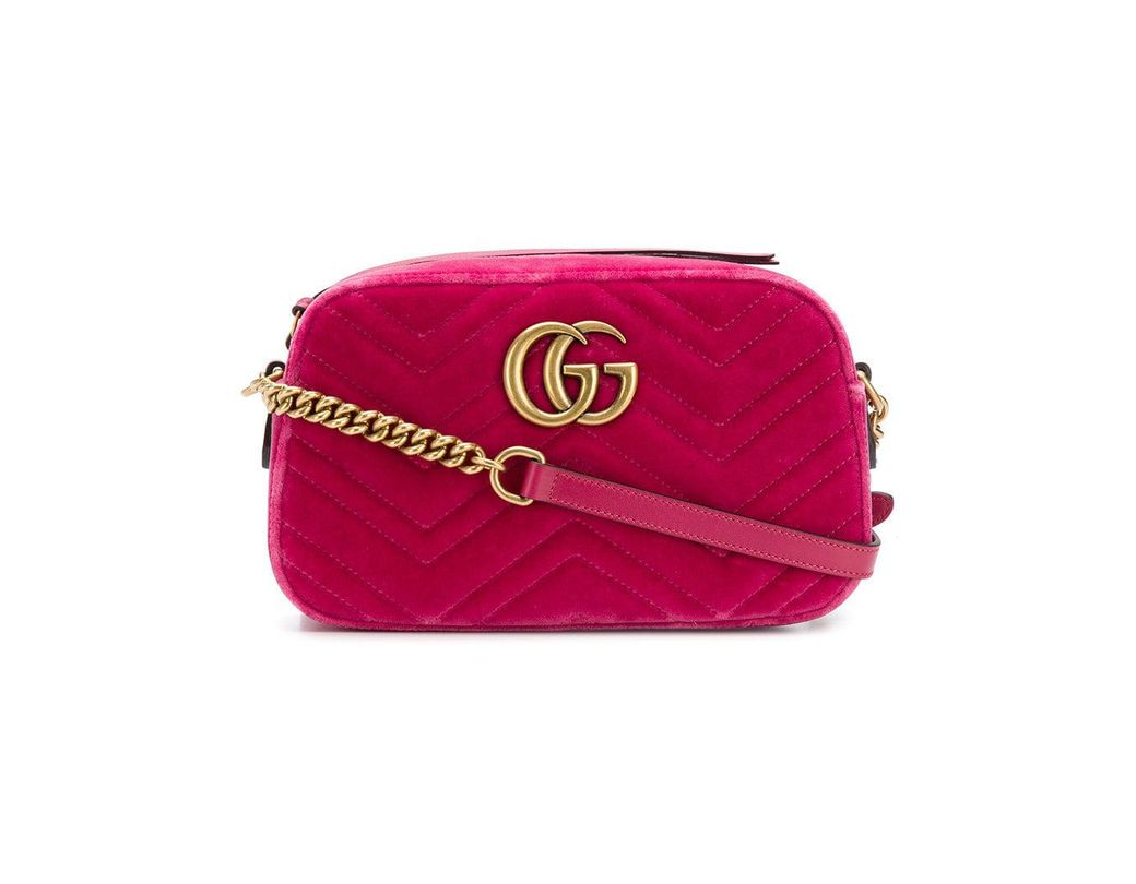 0c38b33dc04 Lyst - Gucci GG Marmont Crossbody-bag in Pink