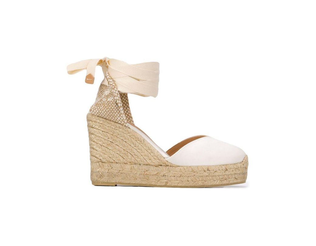 395265a20fa Lyst - Castaner Wedge Espadrilles in White