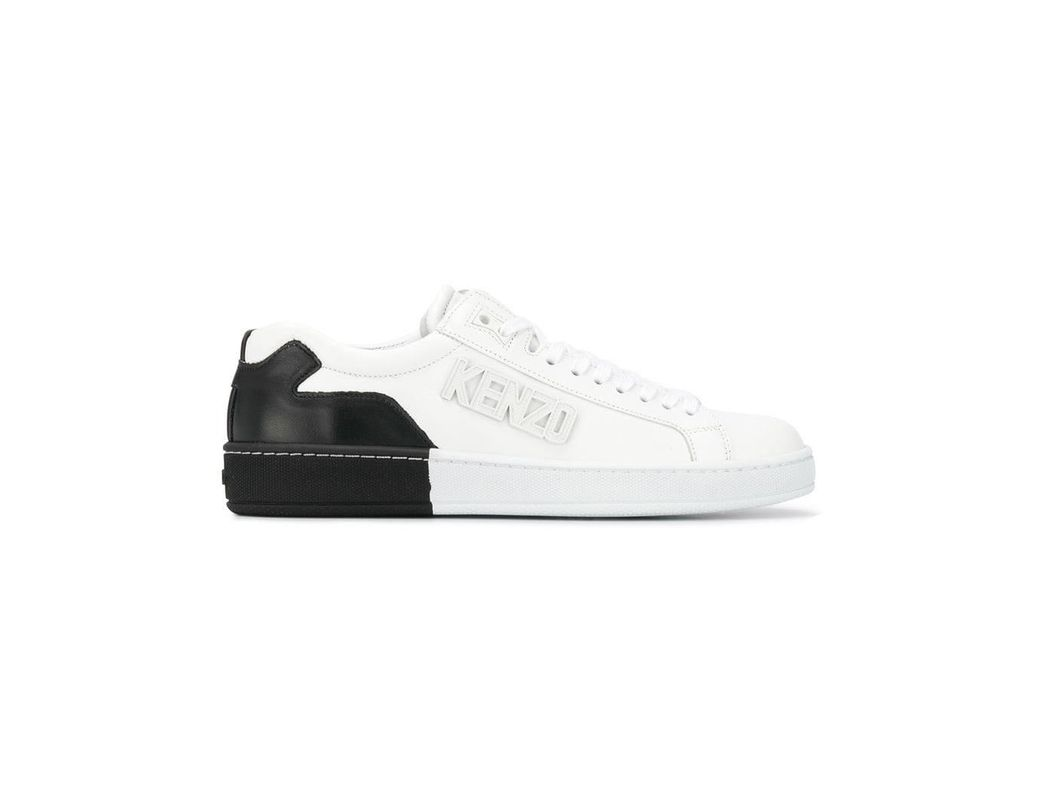 b6a719b5002f Lyst - KENZO Two-tone Sneakers in White - Save 9%