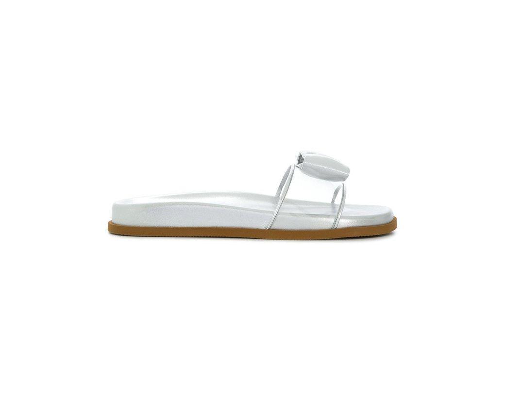 cca09a708bf5f Valentino Garavani Dollybow Slides in Metallic - Lyst
