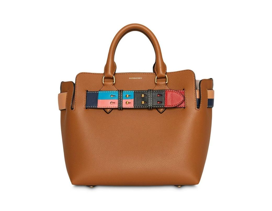 960a47e03bb8 Burberry. Women s Brown The Small Leather Colour Block Detail Belt Bag