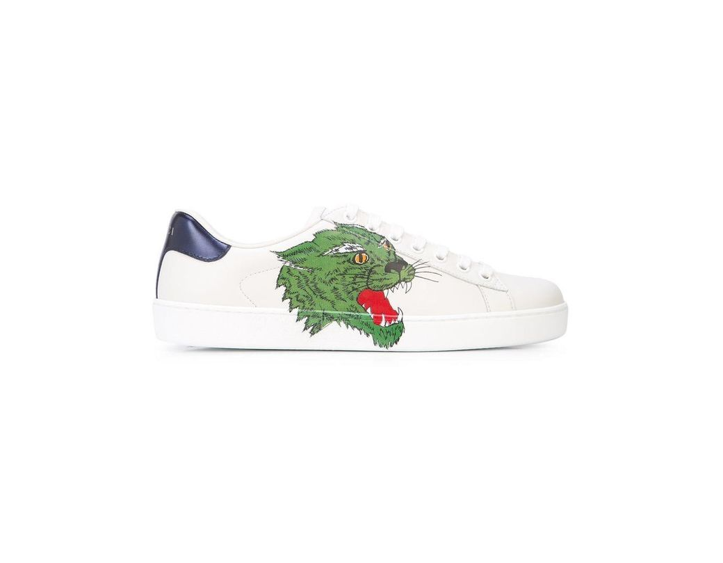 19f52e37e32 Lyst - Gucci Ace Panther Sneakers in White for Men