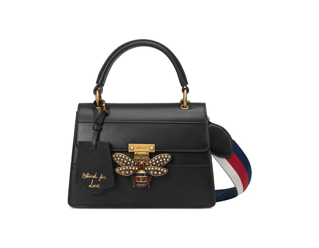 918425720ab Lyst - Gucci Queen Margaret Small Top Handle Bag in Black