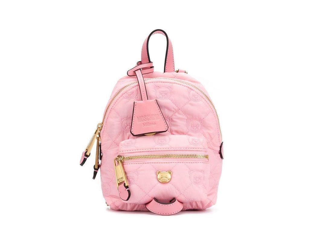 988b8f57c69 Lyst - Moschino Teddy Bear Backpack in Pink