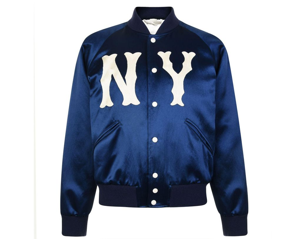 28e3de24b57 Lyst - Gucci Blue New York Yankees Edition Jacket in Blue for Men ...