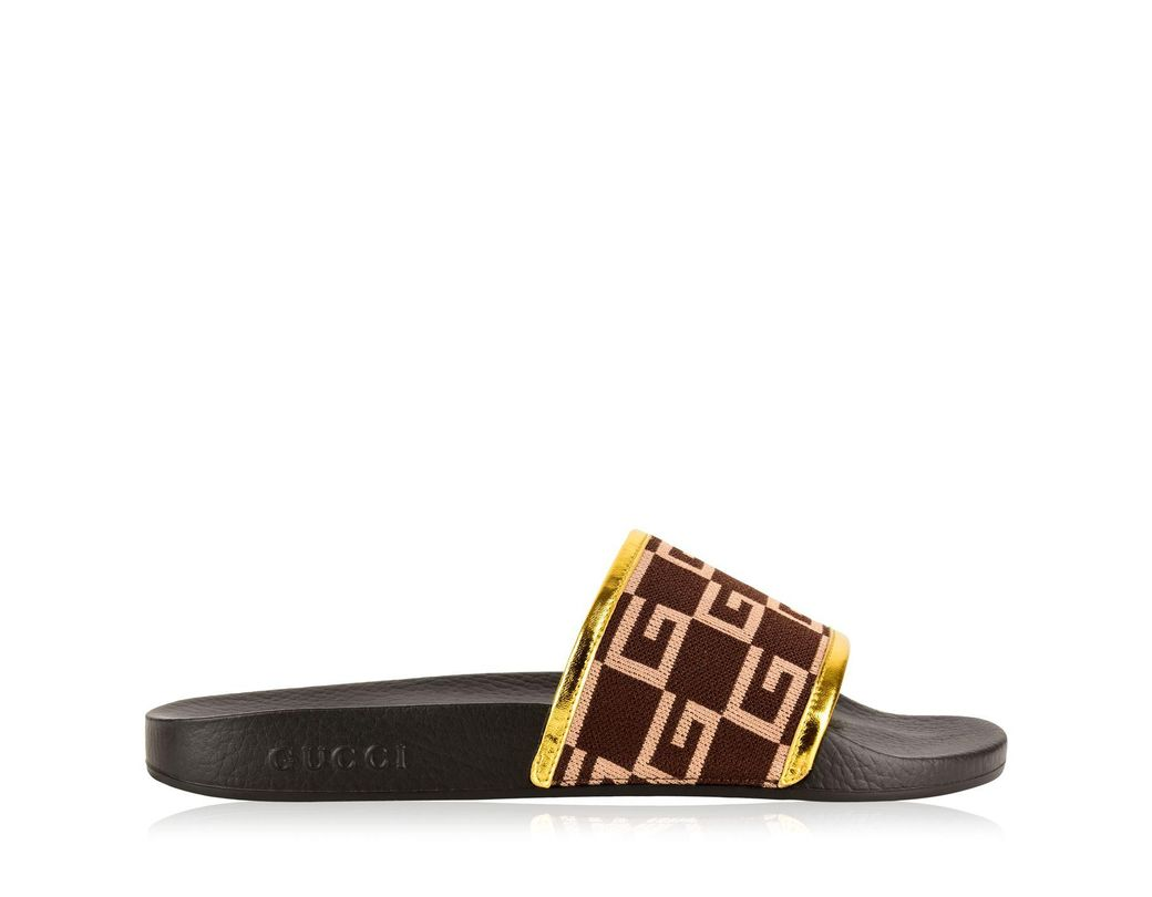 b48192ed790 Lyst - Gucci Gg Sliders in Brown for Men - Save 60%