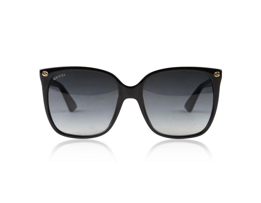 f464e854875 Gucci Gg0022s Sunglasses in Black - Lyst