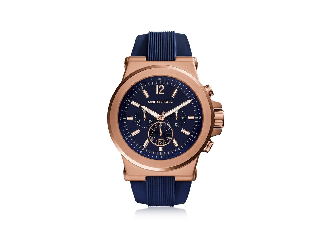 b206c05f8811 ... Silicone Strap Men S. Lyst Michael Kors Dylan Rose Gold Tone Stainless  Steel Case And