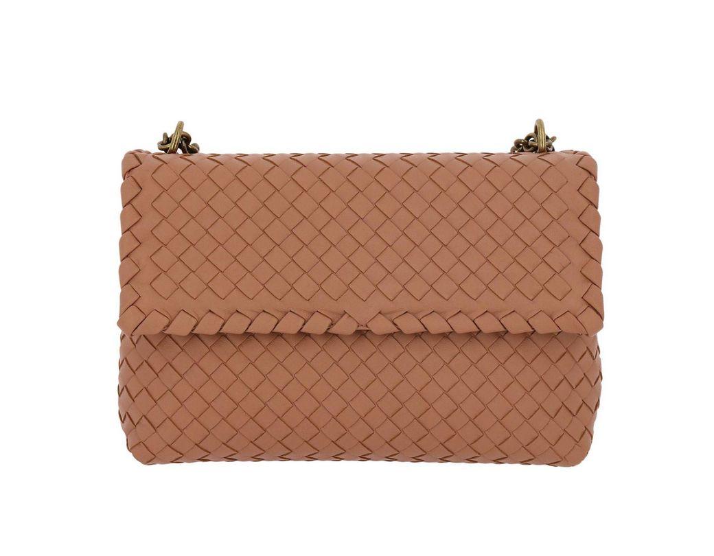 95542d9dfb340 Bottega Veneta. Women's Pink Crossbody Bag Olimpia Small With Sliding Chain  ...