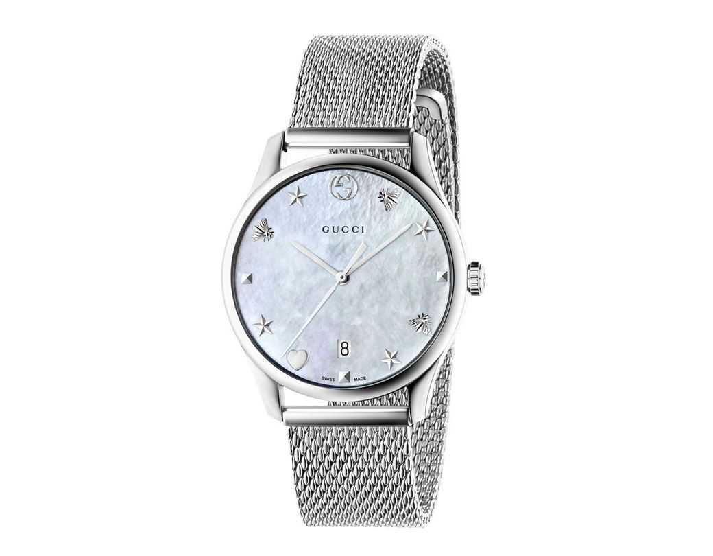 0f551039867 Lyst - Gucci Ya1264094 G-timeless Mother Of Pearl And Stainless Steel Watch  in Metallic - Save 68%