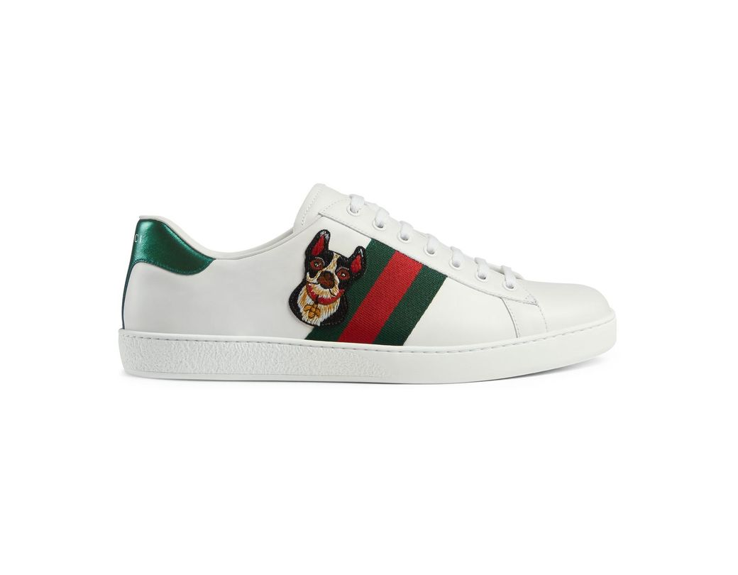 a70c4c33eee Lyst - Gucci Men s Ace Embroidered Sneaker in White for Men