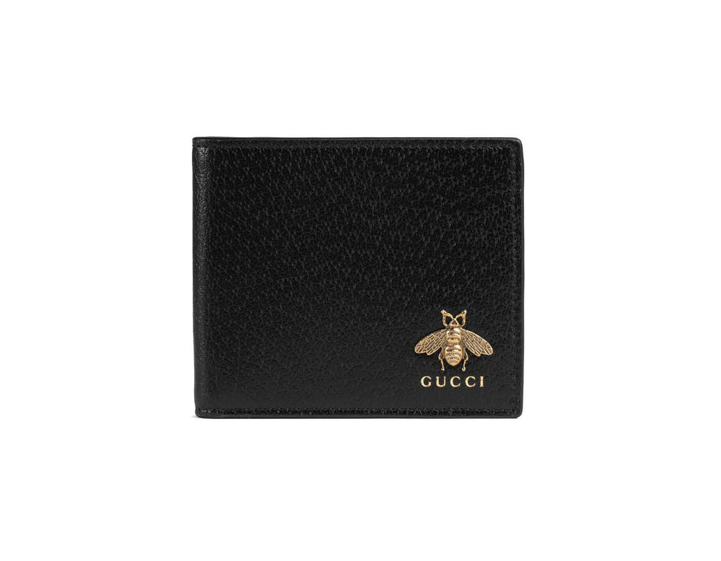 a3f8f397191 Lyst - Gucci Animalier Leather Wallet in Black for Men - Save 23%