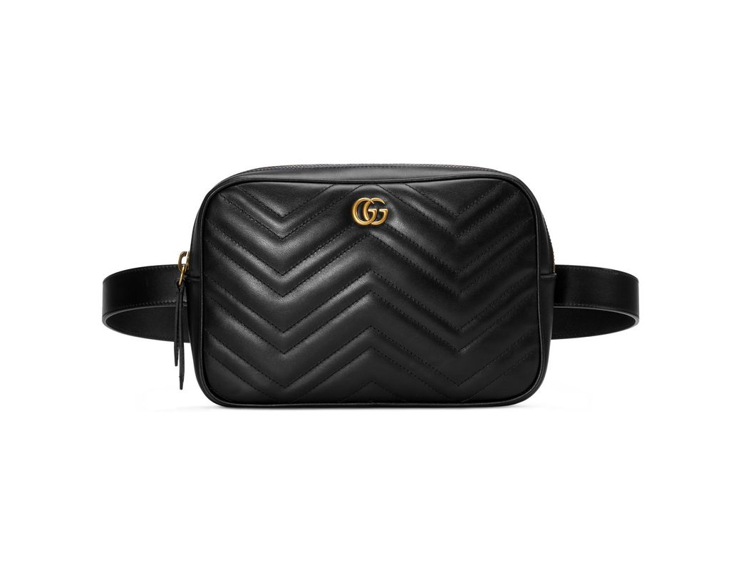 d68fbe6d5bf Lyst - Gucci GG Marmont Matelassé Belt Bag in Black for Men