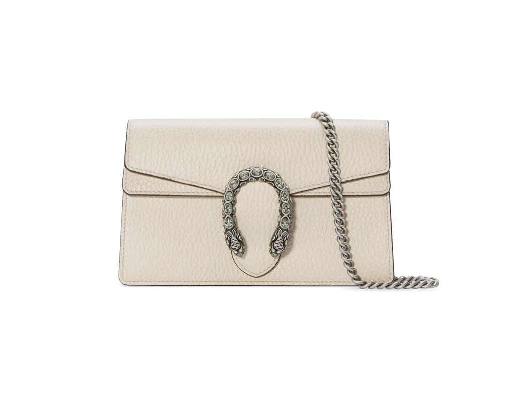 e3477f7a569 Gucci Dionysus Super Mini Leather Bag in White - Save 21% - Lyst