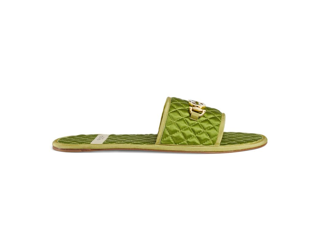 0034fffa9 Lyst - Gucci Men's Slide Sandal With Interlocking G Horsebit in ...