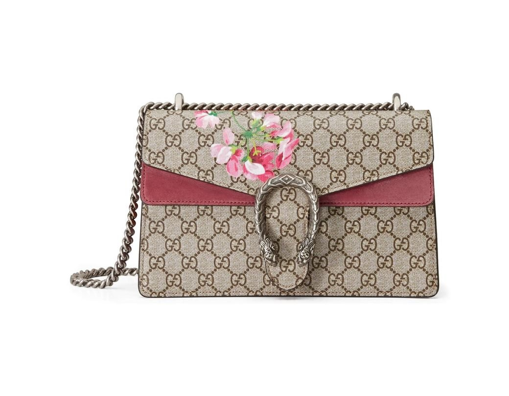 6a4ae5a68114 Lyst - Gucci Dionysus Small GG Blooms Shoulder Bag - Save 6%