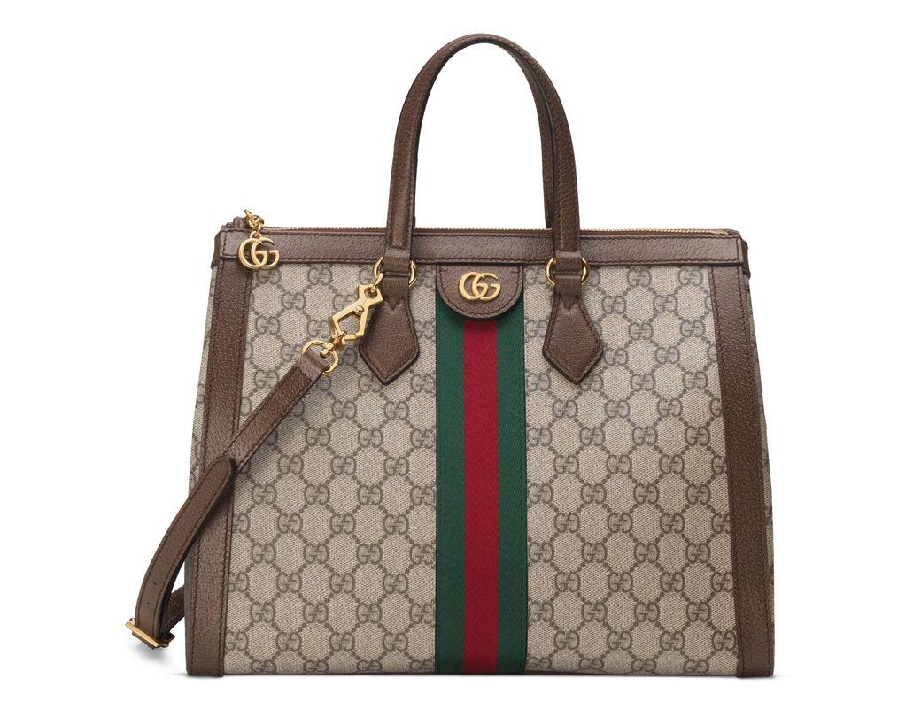 d1da86b4aa4 Gucci Ophidia GG Medium Tote Bag in Natural - Lyst