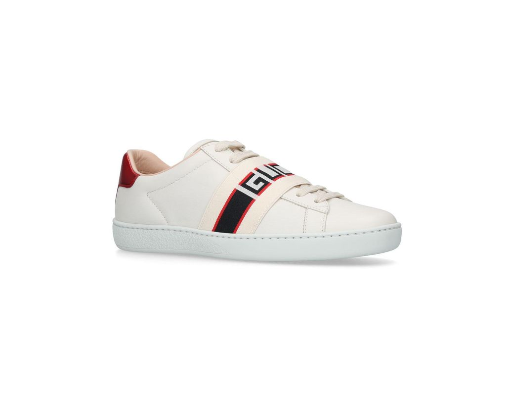 6b339031821 Gucci Ace Elastic Band Sneakers in White - Lyst