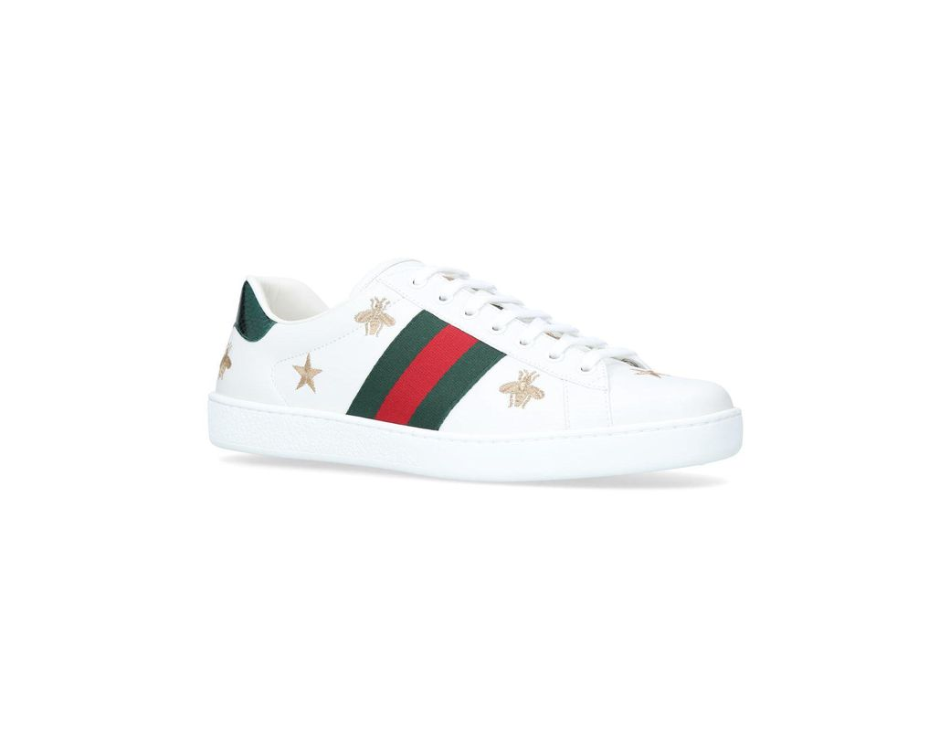 866dcf006fb Lyst - Gucci Ace Bee Star Sneakers in White for Men - Save 13%