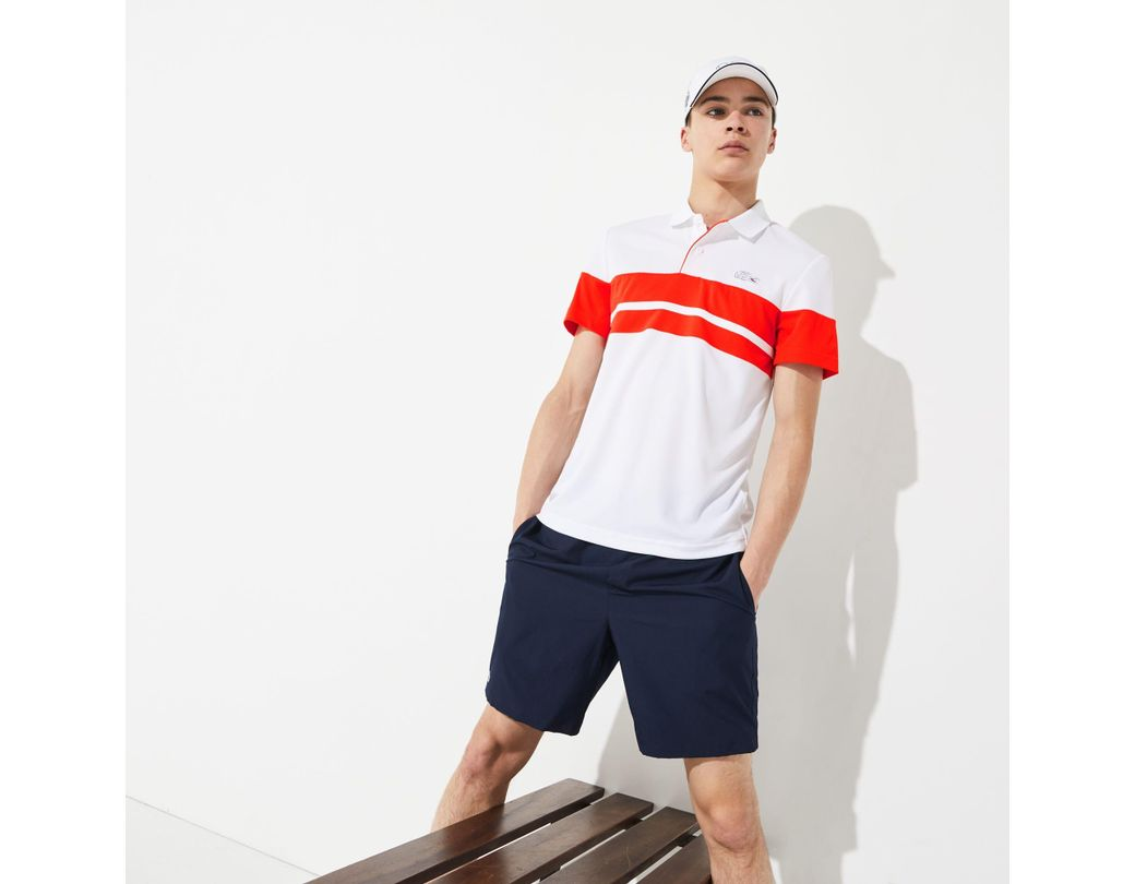 1ebac8992f Lyst - Lacoste Sport French Open Edition Piqué Polo in White for Men