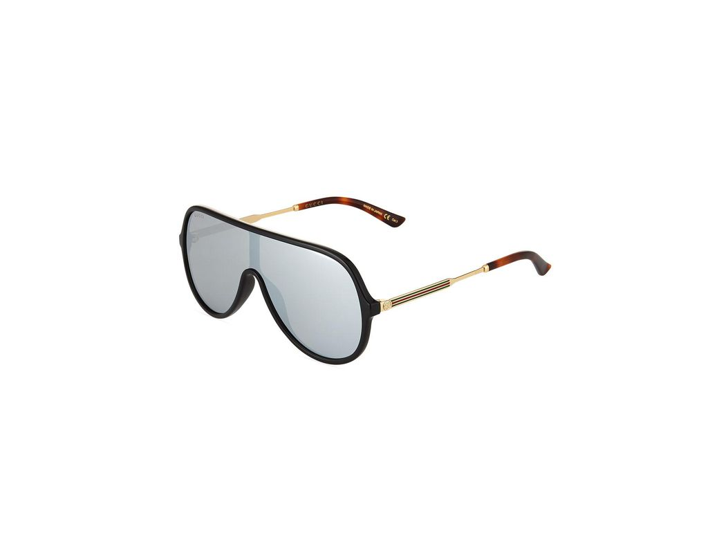 fe170c63a7e Lyst - Gucci Unisex Injected Metal Aviator Shield Sunglasses