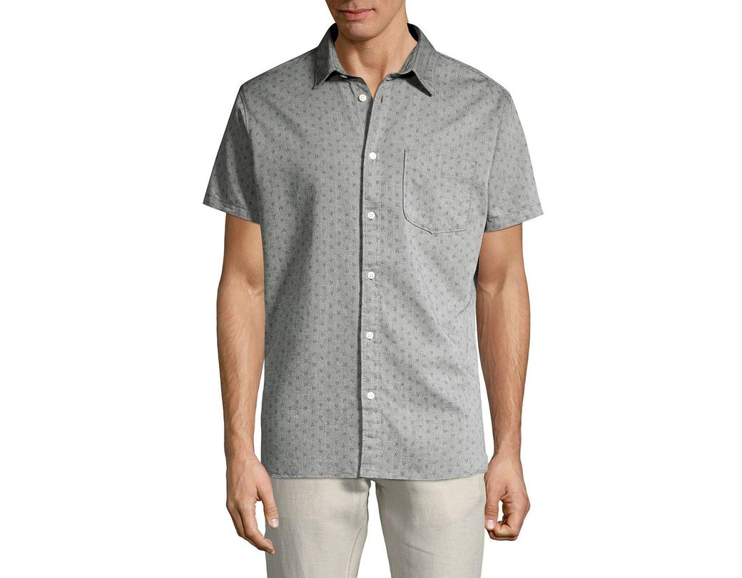 0ce119a4 Lyst - SELECTED Stitched Button Front Shirt in Gray for Men