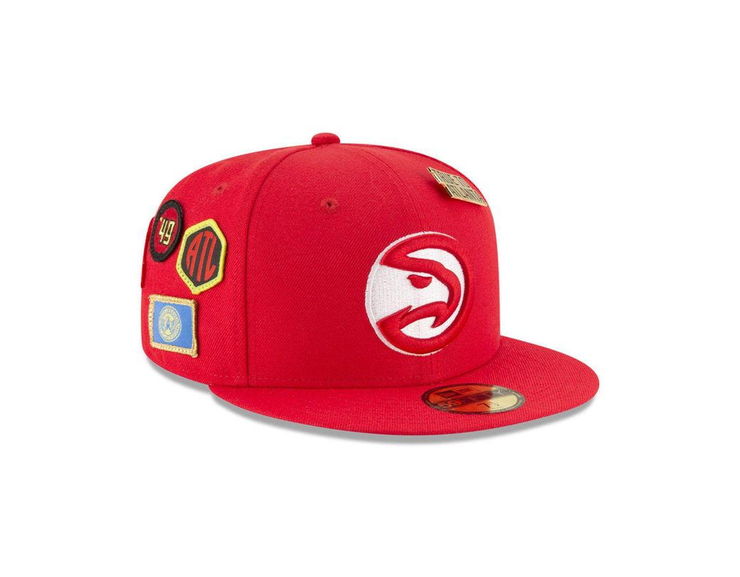 promo code 3d301 c83b0 KTZ. Men s Red Atlanta Hawks On-court Collection 59fifty ...