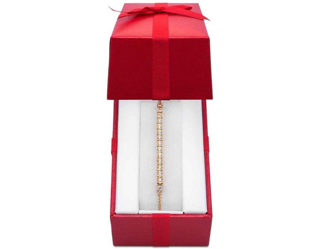 6de1913fe84 Macy's Wrappedtm Diamond Bolo Bracelet (1/2 Ct. T.w.) In Sterling Silver in  Metallic - Lyst