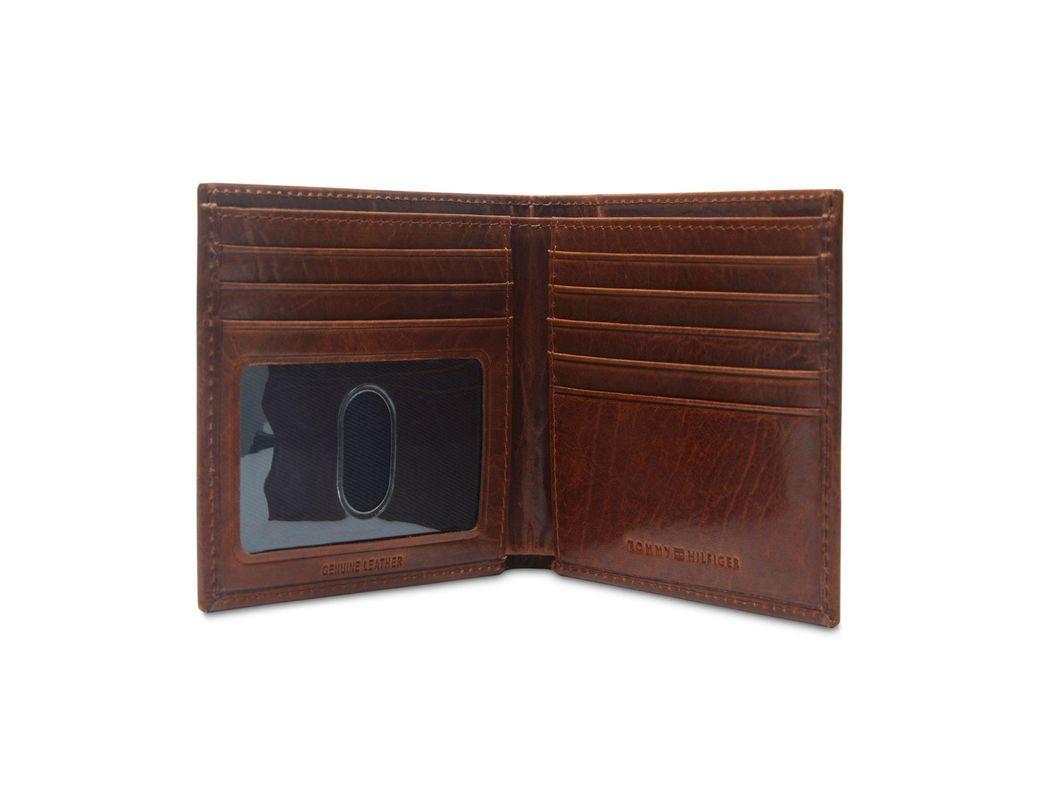 667b6efb69 Tommy Hilfiger Brevon Hipster Rfid Leather Wallet in Brown for Men - Lyst