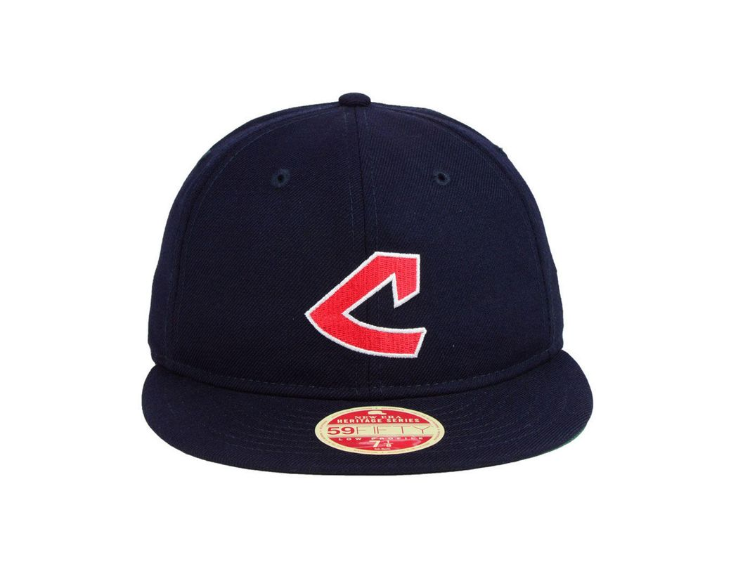 new concept 050d6 95b0c KTZ Cleveland Indians Heritage Retro Classic 59fifty Fitted Cap in Blue for  Men - Lyst