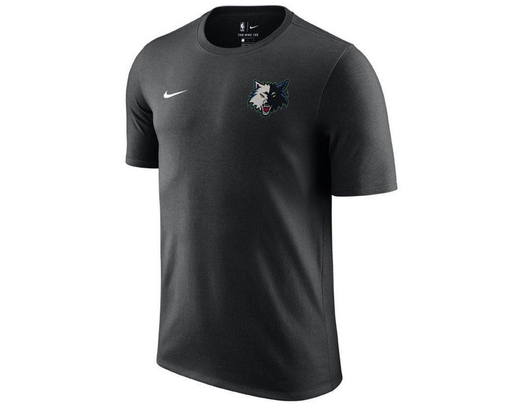 d8af99a0f38 Nike Minnesota Timberwolves Hardwood Classics Logo T-shirt in Black for Men  - Lyst