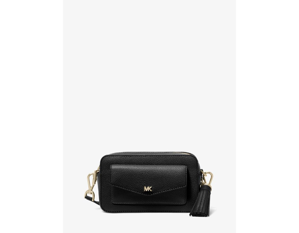 4334d2b1b5b8 MICHAEL Michael Kors. Women s Black Small Pebbled Leather Camera Bag