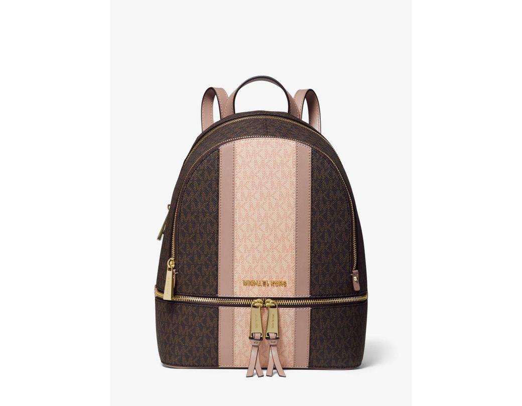 0818d80ab5f0 Lyst - MICHAEL Michael Kors Rhea Colorblock Zip Medium Backpack in Brown