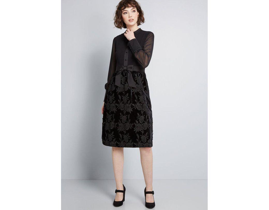 c0a3bf9d3ff Anna Sui Modcloth X Enigmatic Mood A-line Dress in Black - Lyst
