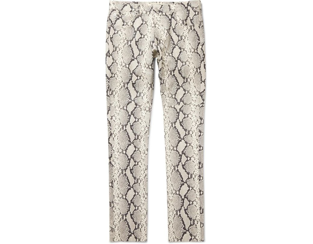9f88d605fb678 1017 ALYX 9SM Slim-fit Snake-print Leather Trousers for Men - Lyst