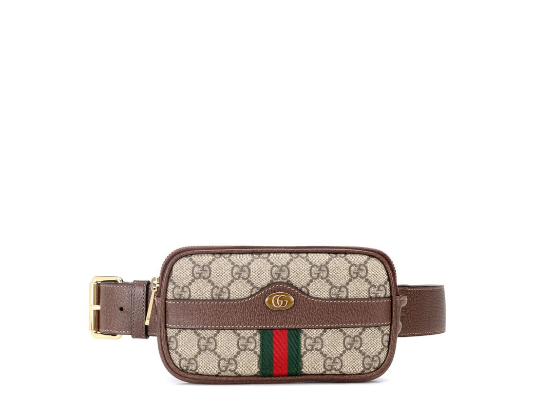 b7b9bacbab9 Gucci Ophidia GG Supreme Belt Bag in Brown - Lyst