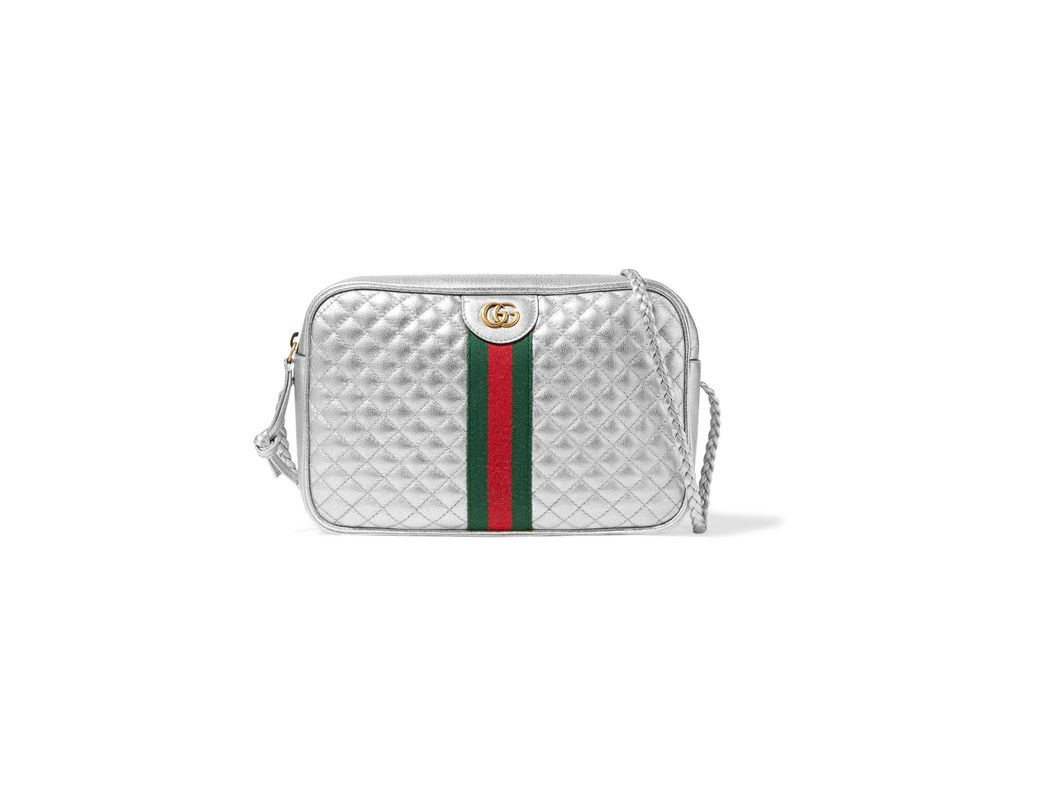 6c5704022c8 Gucci Metallic Quilted Leather Shoulder Bag in Metallic - Save 47 ...