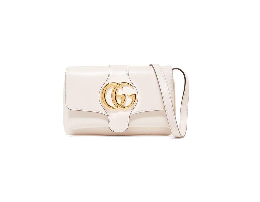 8dd3dc82246 Lyst - Gucci Arli Medium Leather Shoulder Bag in White