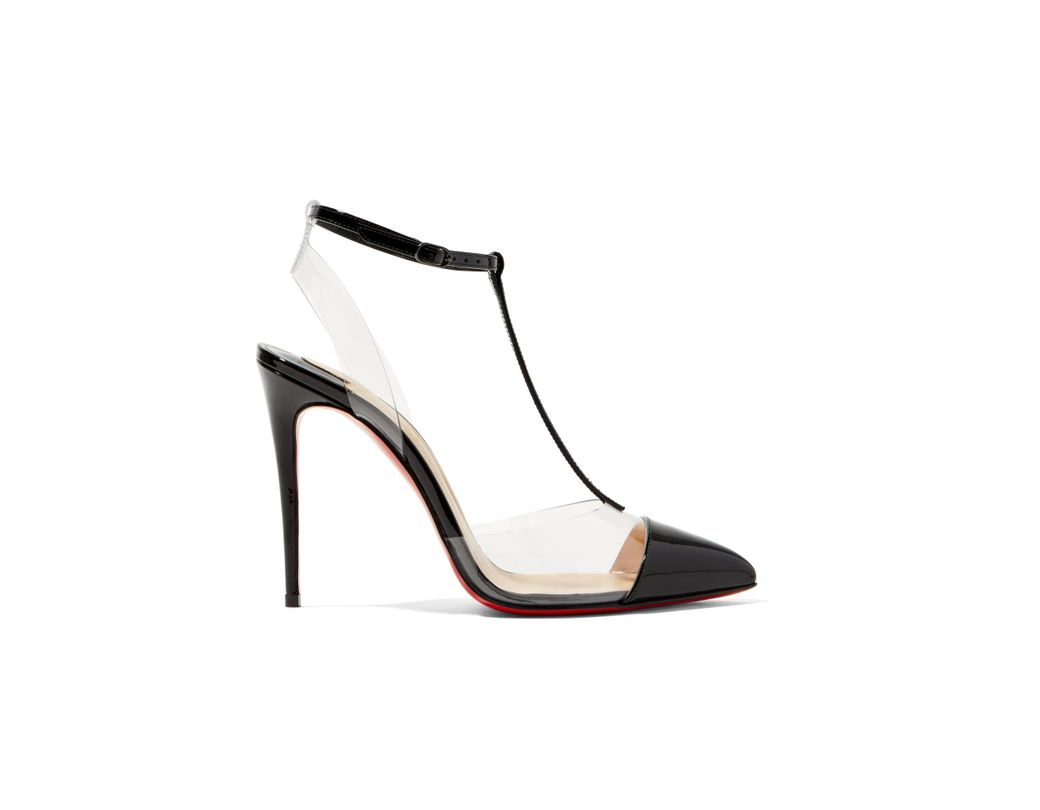 aafcc486764a Lyst - Christian Louboutin Nosy 100 Patent-leather And Pvc T-bar ...